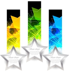 banners with star vector image vector image