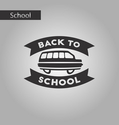 Black and white style icon back to school bus vector