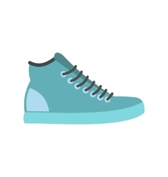 Blue sneakers flat icon vector