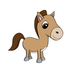 Cartoon of a cute little pony vector