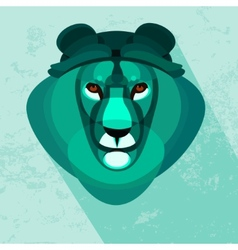 Cartoon stylised lion vector