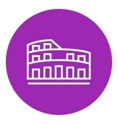 Coliseum line icon vector
