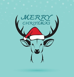 Deer and santa hats vector image vector image
