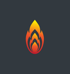 fire flame logo design template silhouette vector image vector image