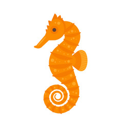 Flat style of sea horse vector