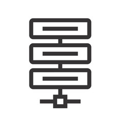 Icon of server high-tech technology items vector