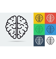 line icon of brain vector image vector image