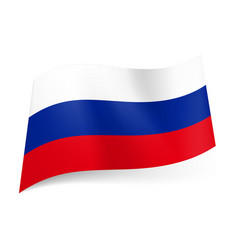 National flag of russian federation white blue vector