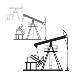 Oil production in the desert vector image