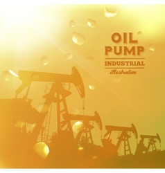Oil pump jack silhouette design vector image vector image