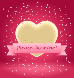 please be mine vector image vector image
