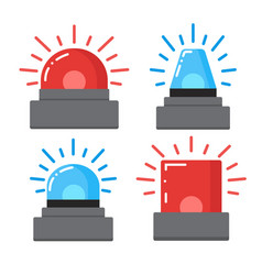 red and blue flashing emergency vector image vector image