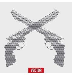 Revolvers vintage halftone style vector image vector image