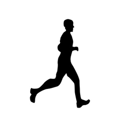 Running silhouette black vector image