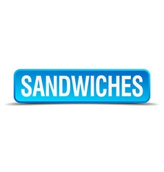 sandwiches blue 3d realistic square isolated vector image vector image
