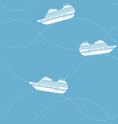 seamless nautical pattern with ships vector image vector image