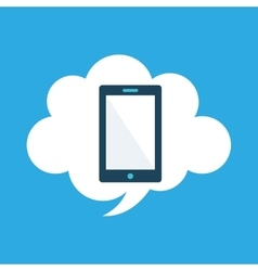 Start up business cloud smartphone graphic vector
