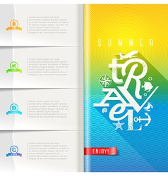 Summer travel design vector