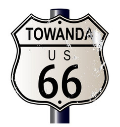 Towanda route 66 sign vector