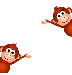 Two funny monkey vector image