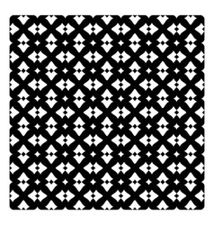 Vintage pattern with white decorations on black vector