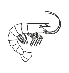 Lobster seafood animal isolated icon vector