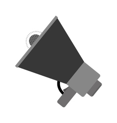 Monochrome color with megaphone closeup vector