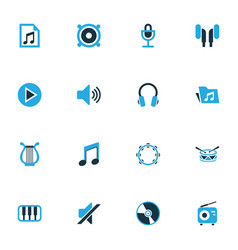 Audio colorful icons set collection of microphone vector
