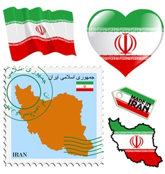 National colours of iran vector