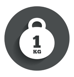 Weight sign icon 1 kilogram kg mail weight vector