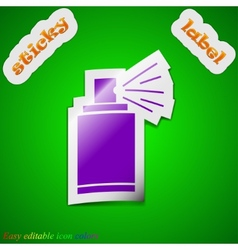 Aerosol paint icon sign symbol chic colored sticky vector