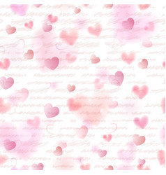 Seamless pattern of pink hearts vector