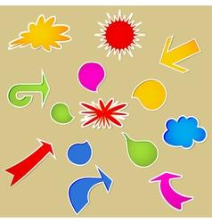 Set of various bubbles vector image