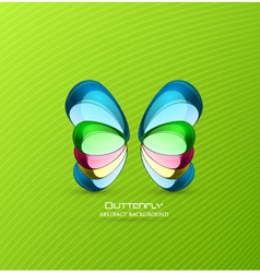 stone butterfly vector image
