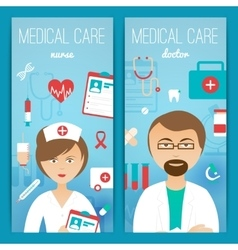 Medical doctor banners poster vector