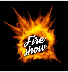 Fire show with fire vector