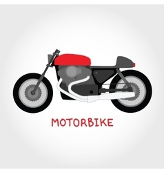 Isolated motorbike vector