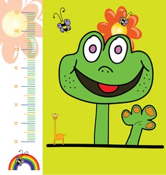 Children meter wall with rainbow vector