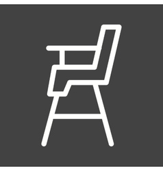 Baby chair vector