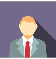 A man in a suit with a beard icon flat style vector
