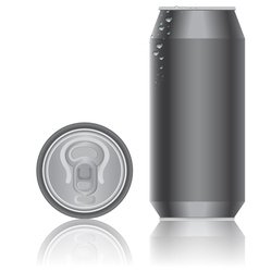 aluminum packaging for beverages vector image