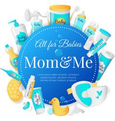 baby accessories poster design Newborn vector image vector image