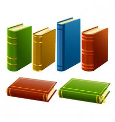 books vector image vector image