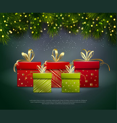 Christmas gifts poster vector