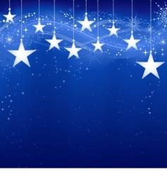 christmas stars vector image vector image