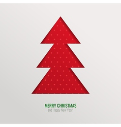 Christmas tree cut out background vector