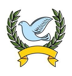 dove of peace with wrench vector image vector image