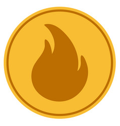 Fire gold coin vector