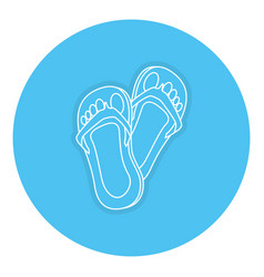 Flip flops isolated icon vector