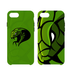 furious green snake head sport logo concept vector image vector image